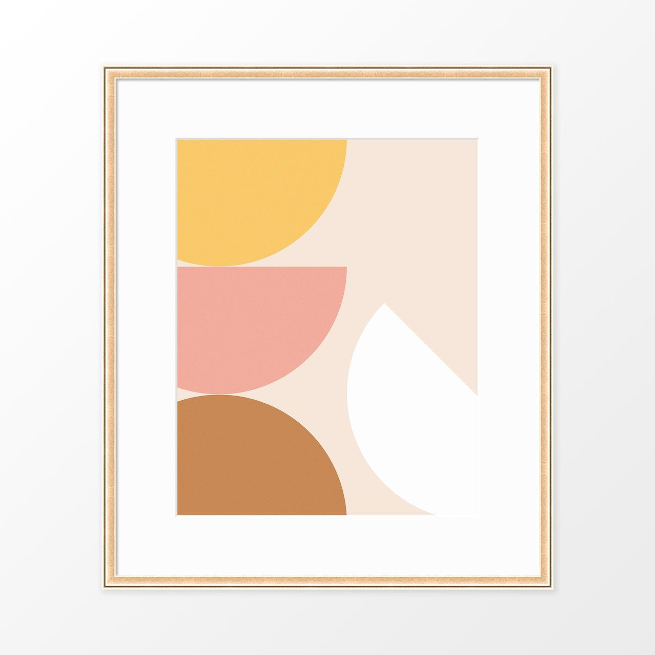 'Citrus' Geometric Art Poster from The Printed Home