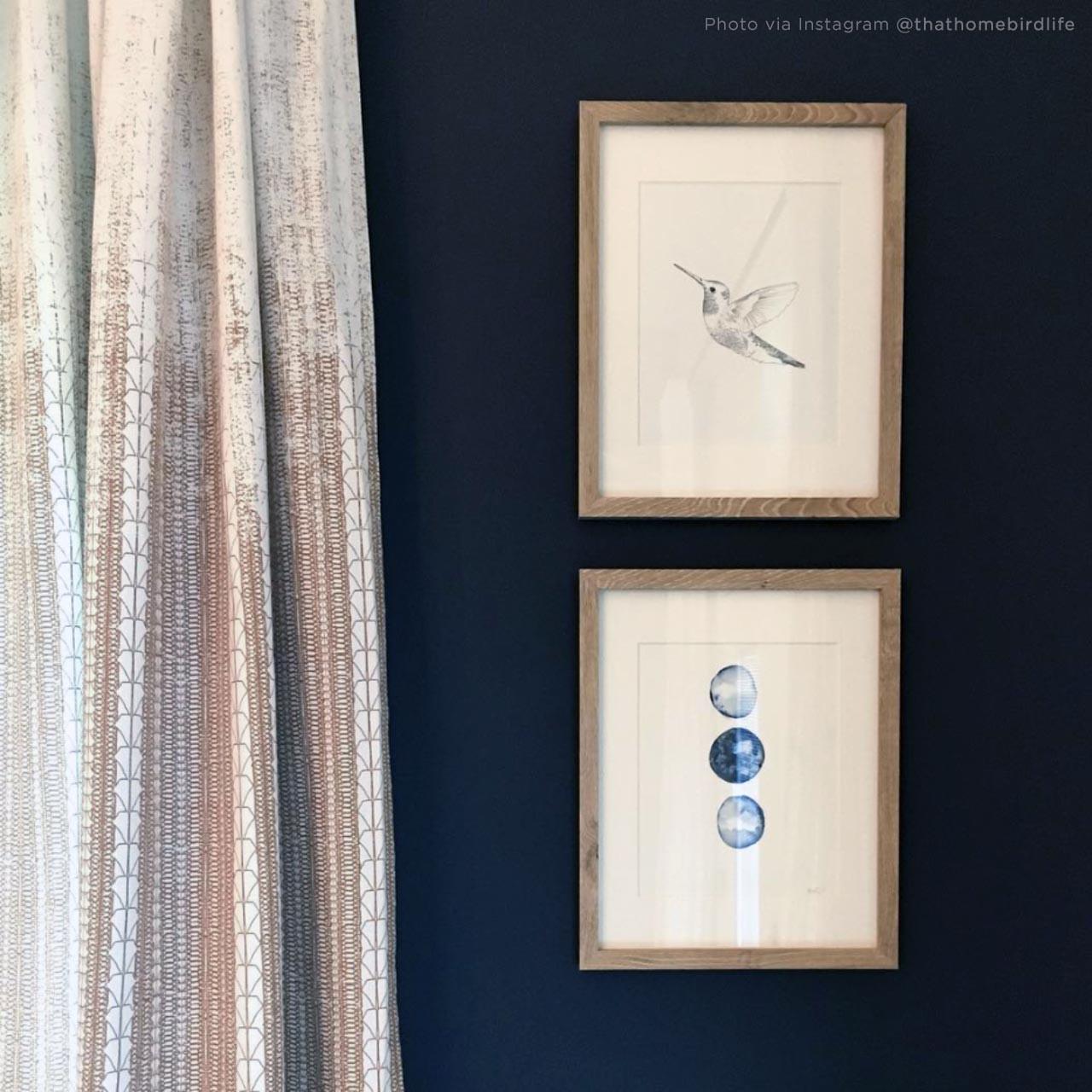 'Hummingbird' Hand-Drawn Art Print from The Printed Home (Photo Credit: @thathomebirdlife via Instagram