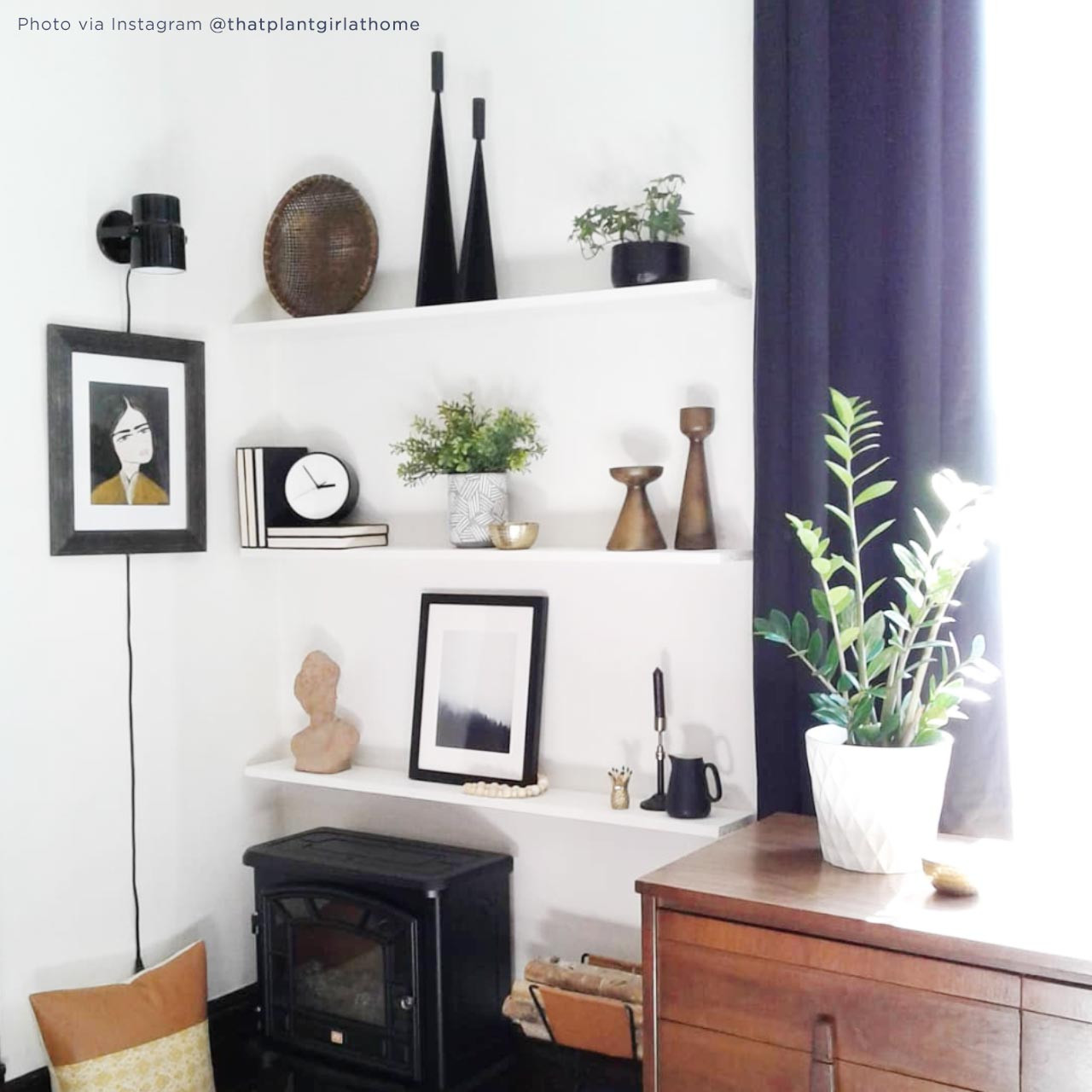 'Forest Mist I' Photography Poster from The Printed Home (Photo Credit: @thatplantgirlathome via Instagram)
