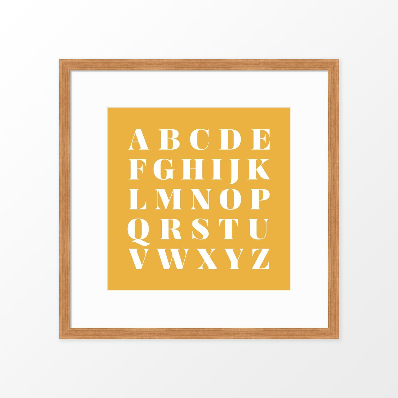 Alphabet Square Kids Poster / Framed Art Print from The Printed Home