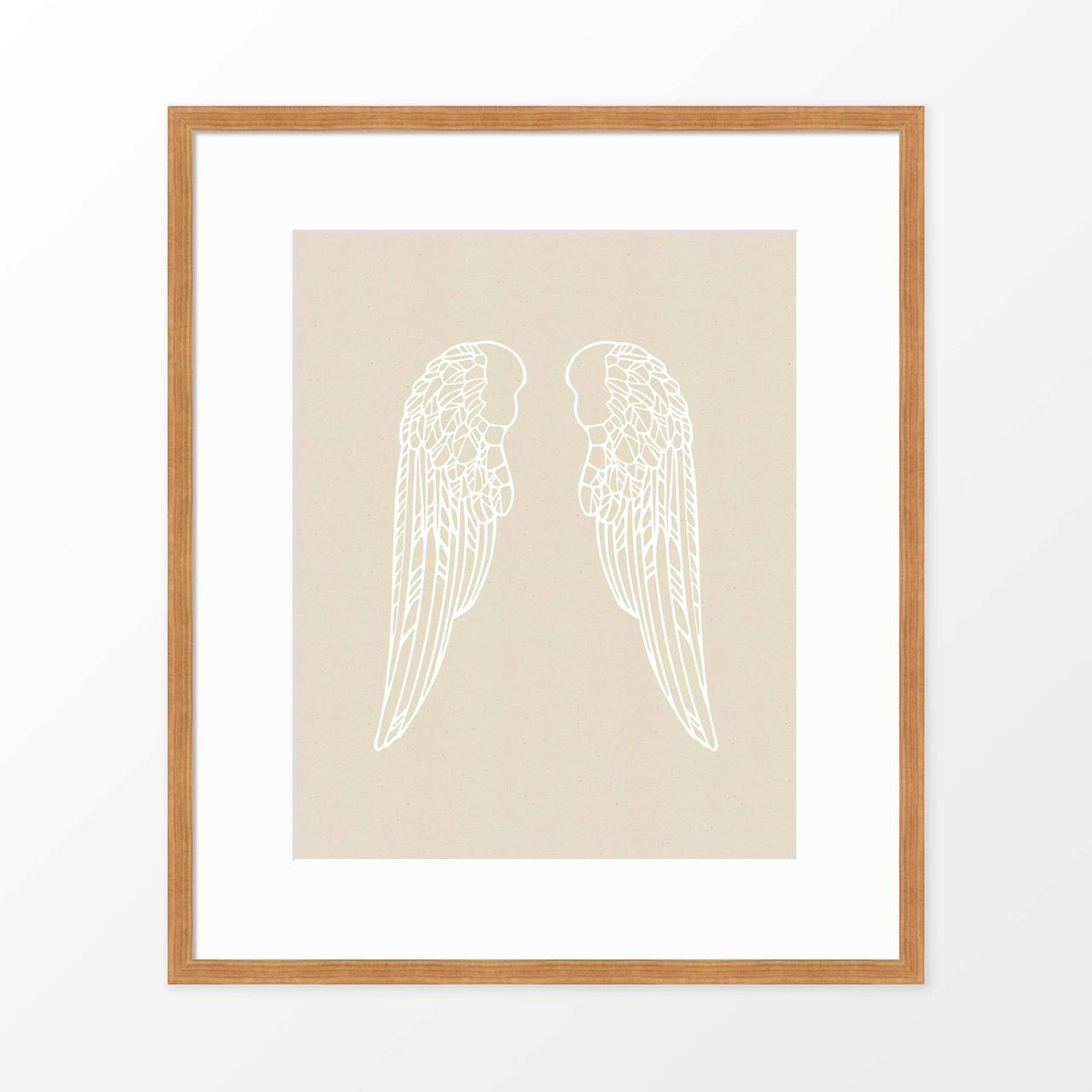 'Angel Wings' Art Print from The Printed Home