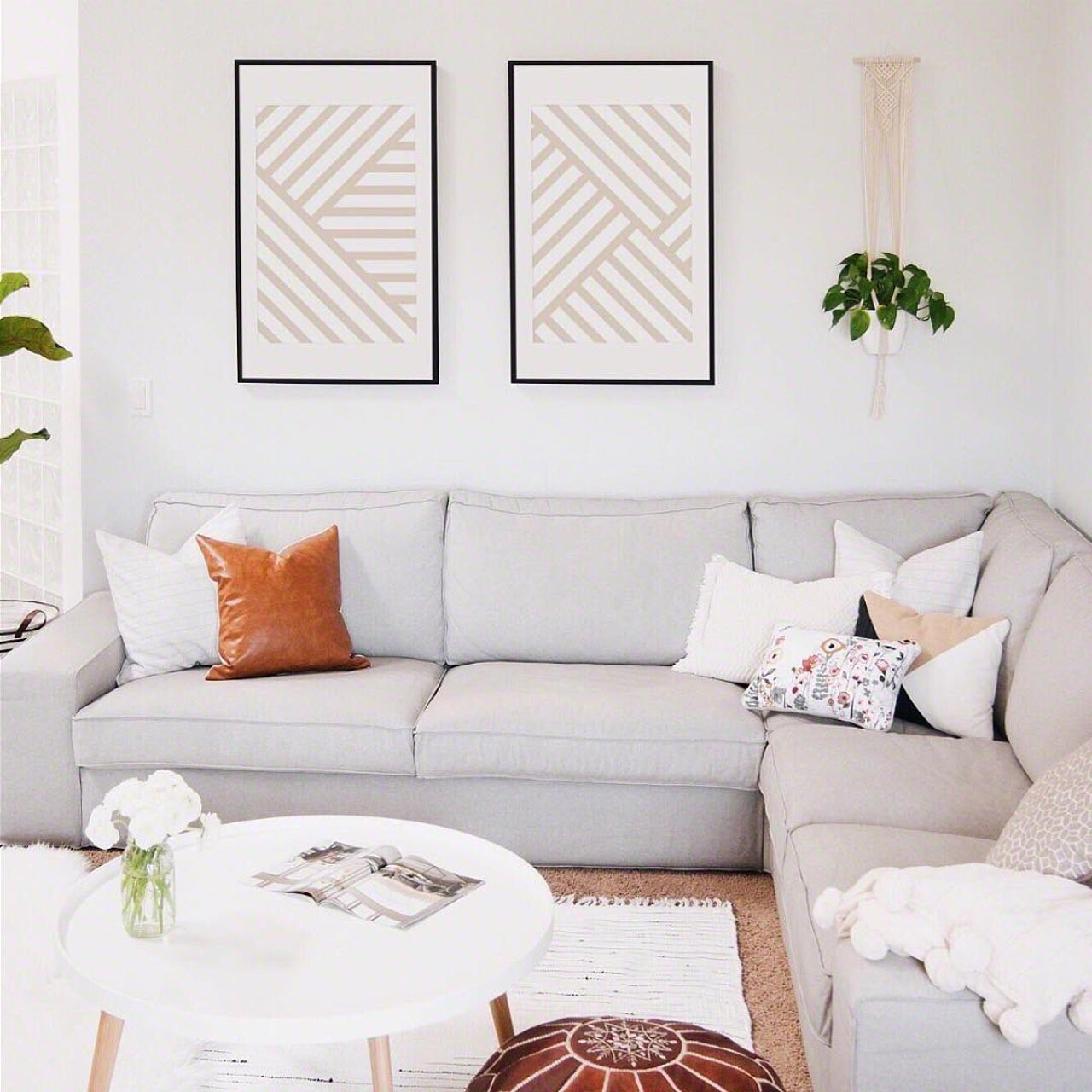 'Lines on Lines I' Modern Geometric Art Poster from The Printed Home
