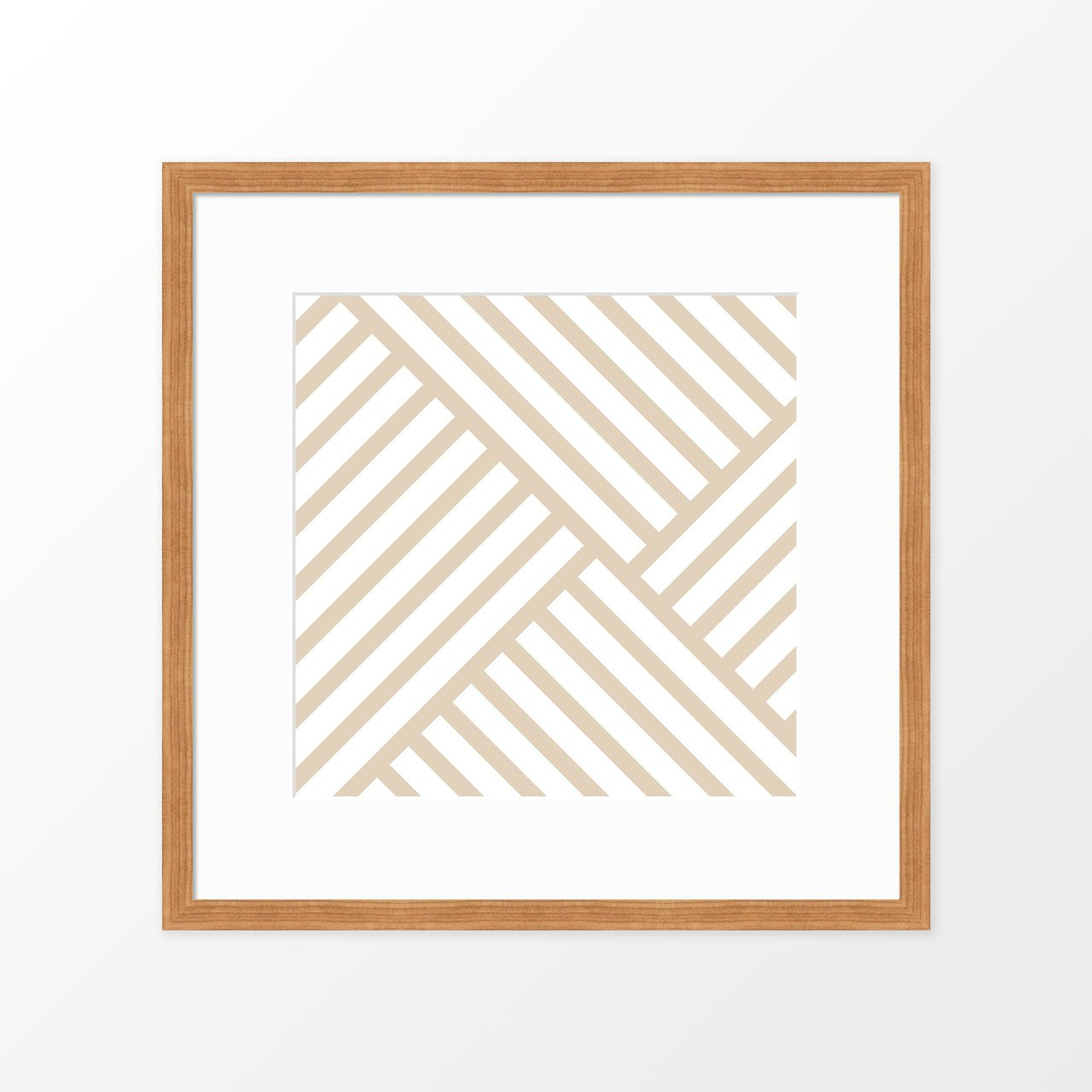 'Lines on Lines II' Modern Geometric Art Poster from The Printed Home