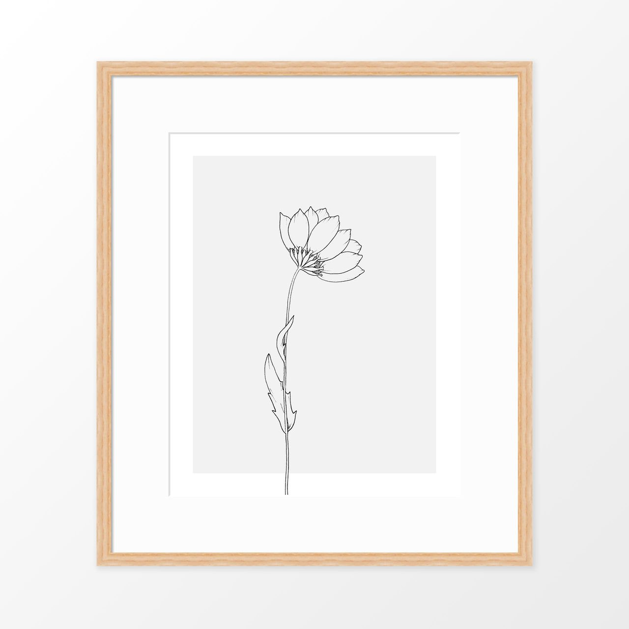 'Wildflower Study II' Art Print from The Printed Home