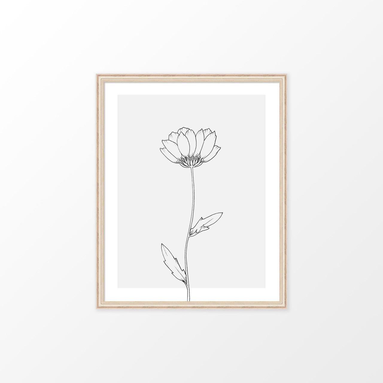 'Wildflower Study I' Art Print from The Printed Home