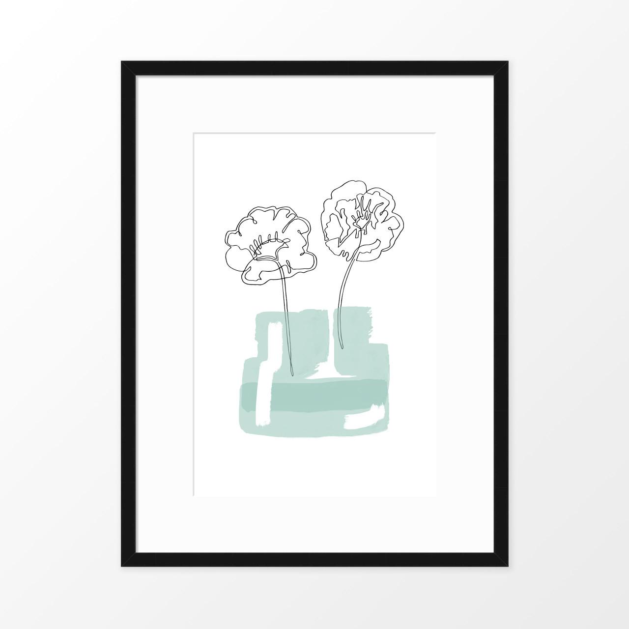 'Poppy Jar' Original Art Print from The Printed Home