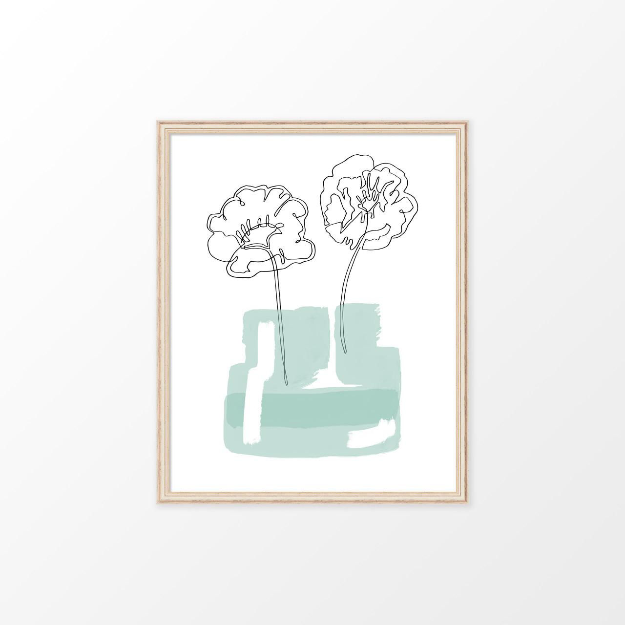 'Poppy Jar' Original Art Print from The Printed Home (Printable)