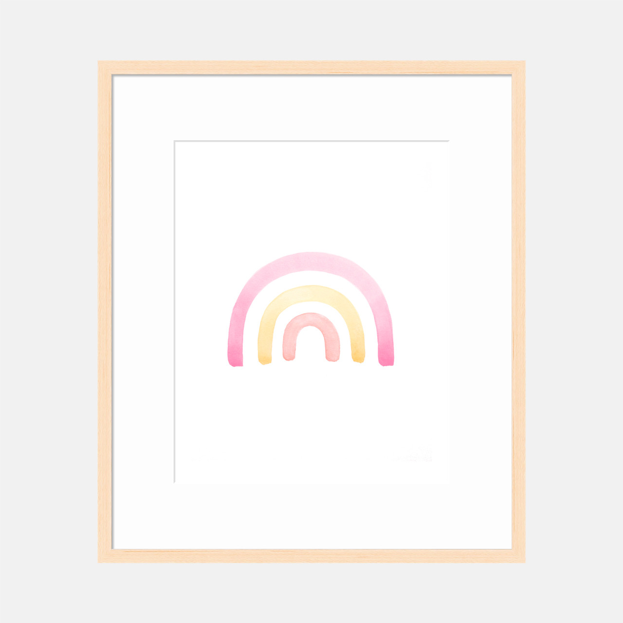 'Pink Rainbow' Art Print / Kids' Poster from The Printed Home