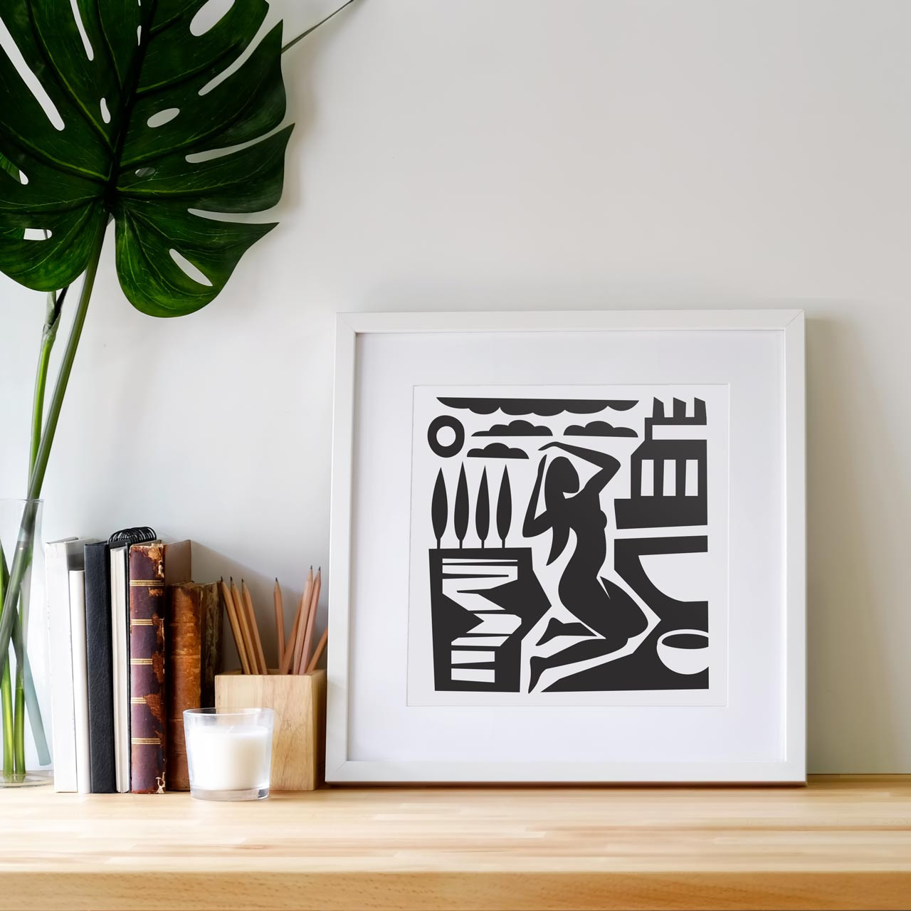 'Desert Woman' Art Print from The Printed Home