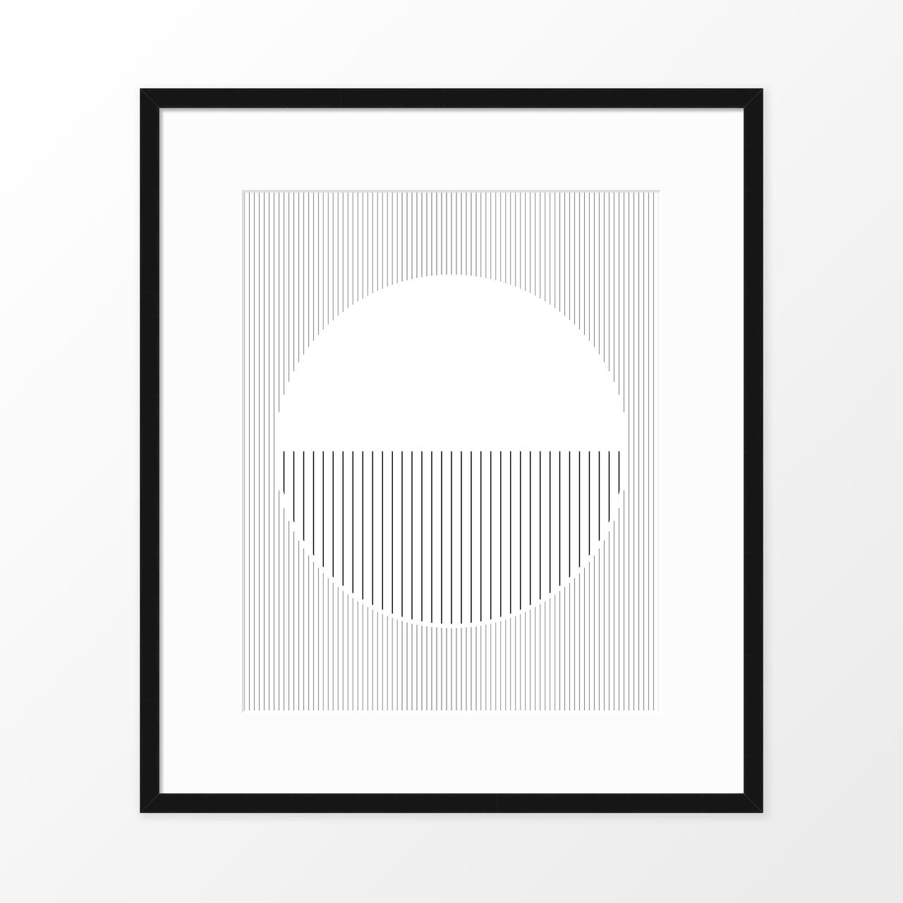 'Moon' Abstract Line Art Print from The Printed Home
