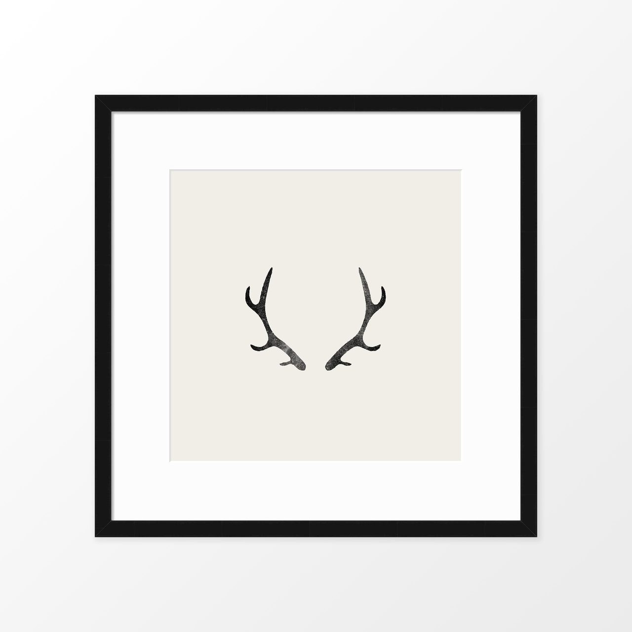 'Antlers' Block-printed Art Print from The Printed Home (Printable)