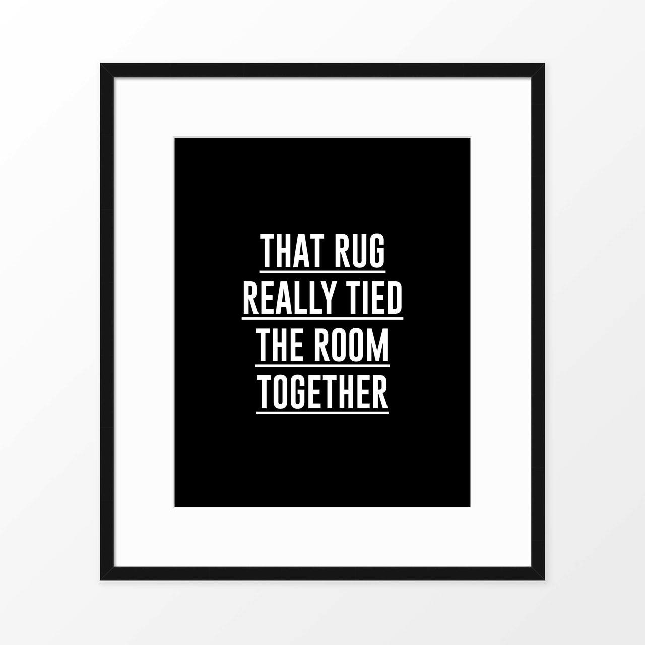 'The Big Lebowski II' Movie Quote Poster from The Printed Home (Printable)