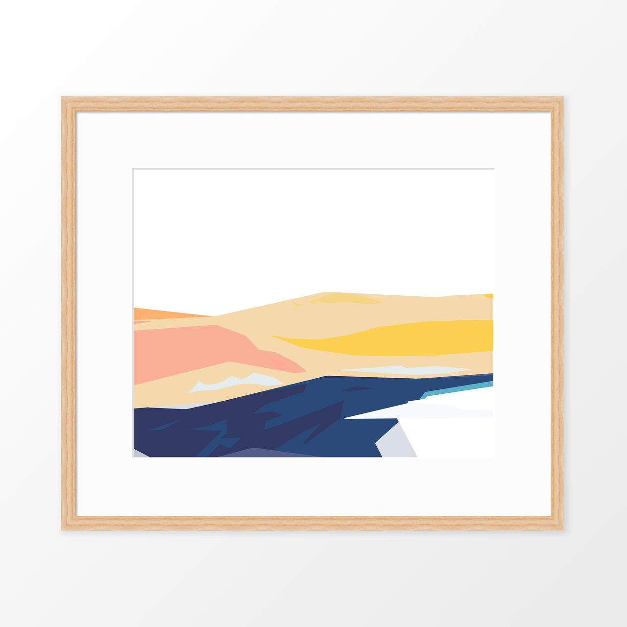 'Coastline II' Abstract Art Print from The Printed Home (Printable)