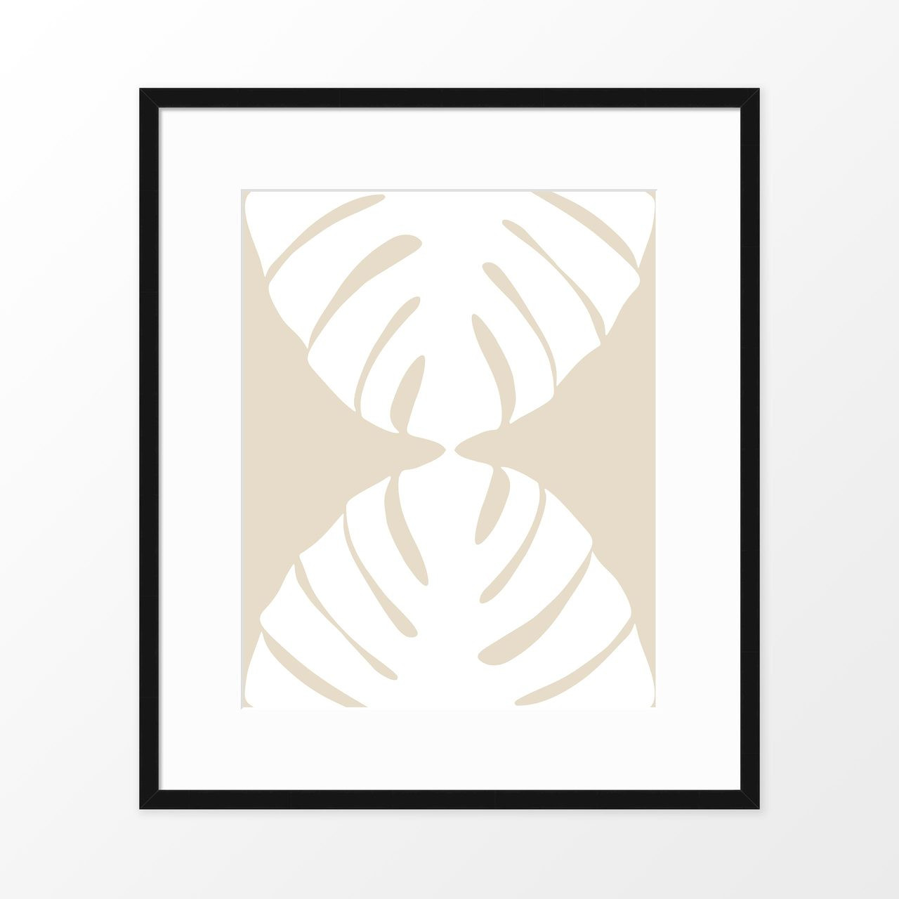 'White Monstera II' Botanical Art Poster from The Printed Home (Printable)