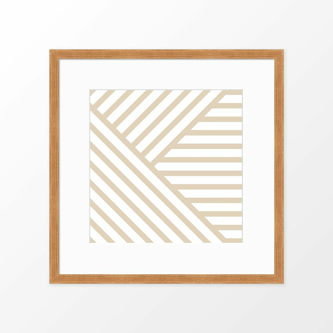'Lines on Lines I' Modern Geometric Art Poster from The Printed Home (Printable)
