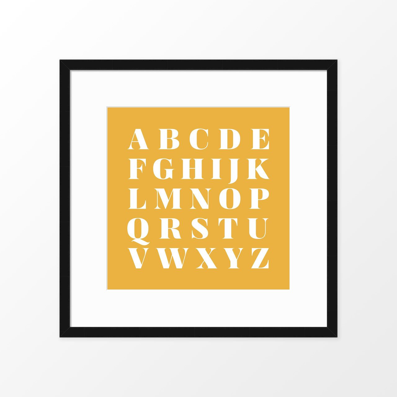 Alphabet Square Kids Poster / Framed Art Print from The Printed Home (Printable)