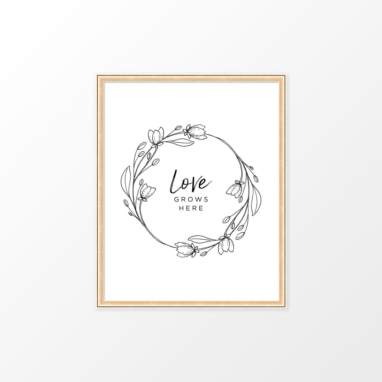 'Love Grows Here' Art Print from The Printed Home (Printable)