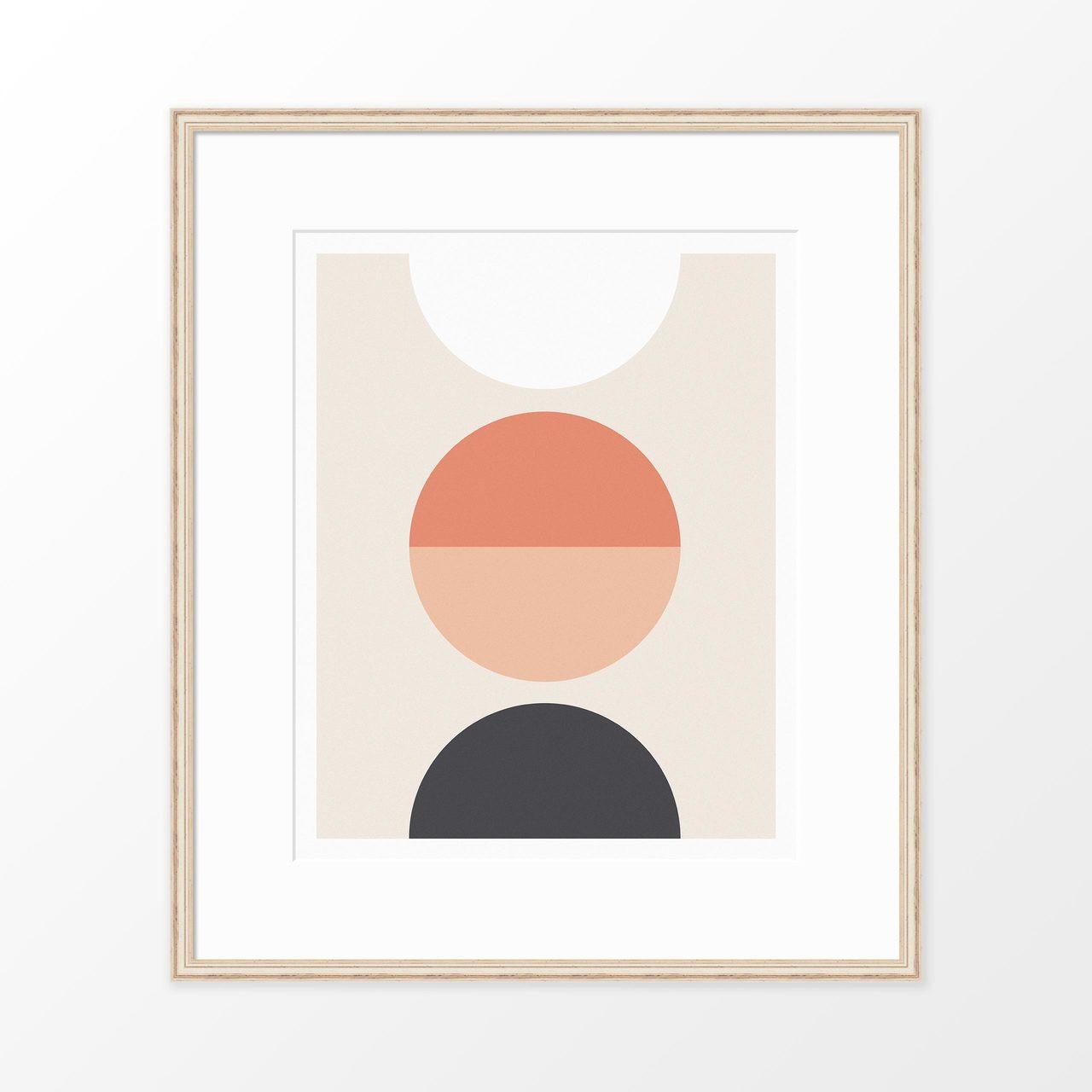 'Luna' Geometric Art Print from The Printed Home