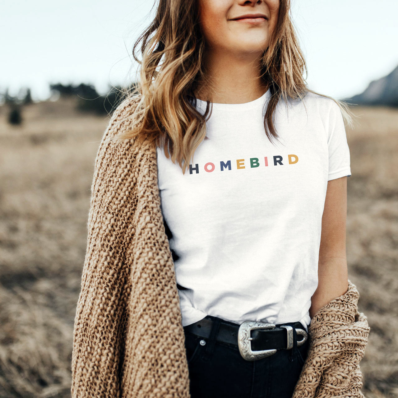 HOMEBIRD Cotton T-Shirt (Color on White) from The Printed Home