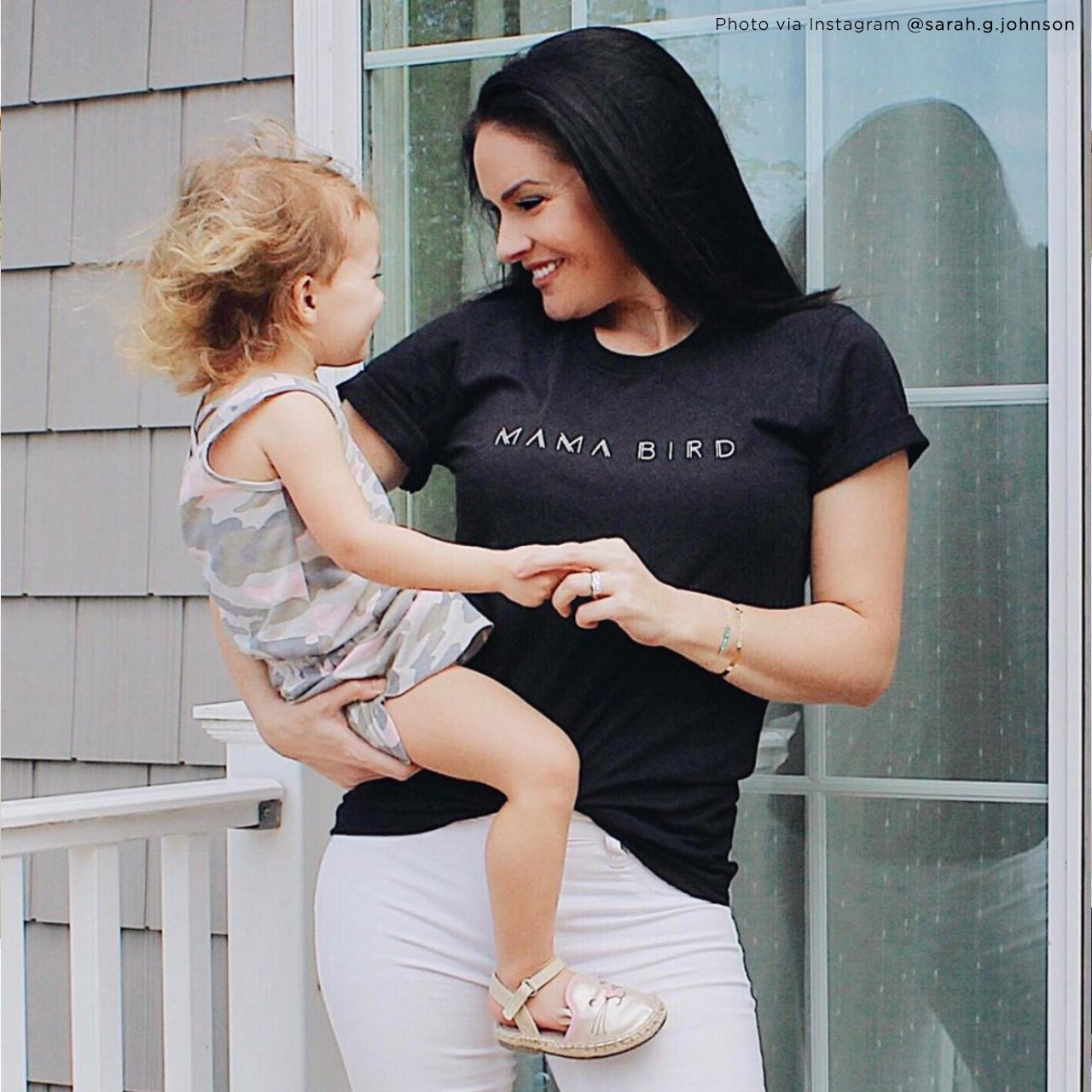 MAMA BIRD Vintage T-Shirt (Color on Light Gray Fleck) from The Printed Home (Photo Credit: @sarah.g.johnson)