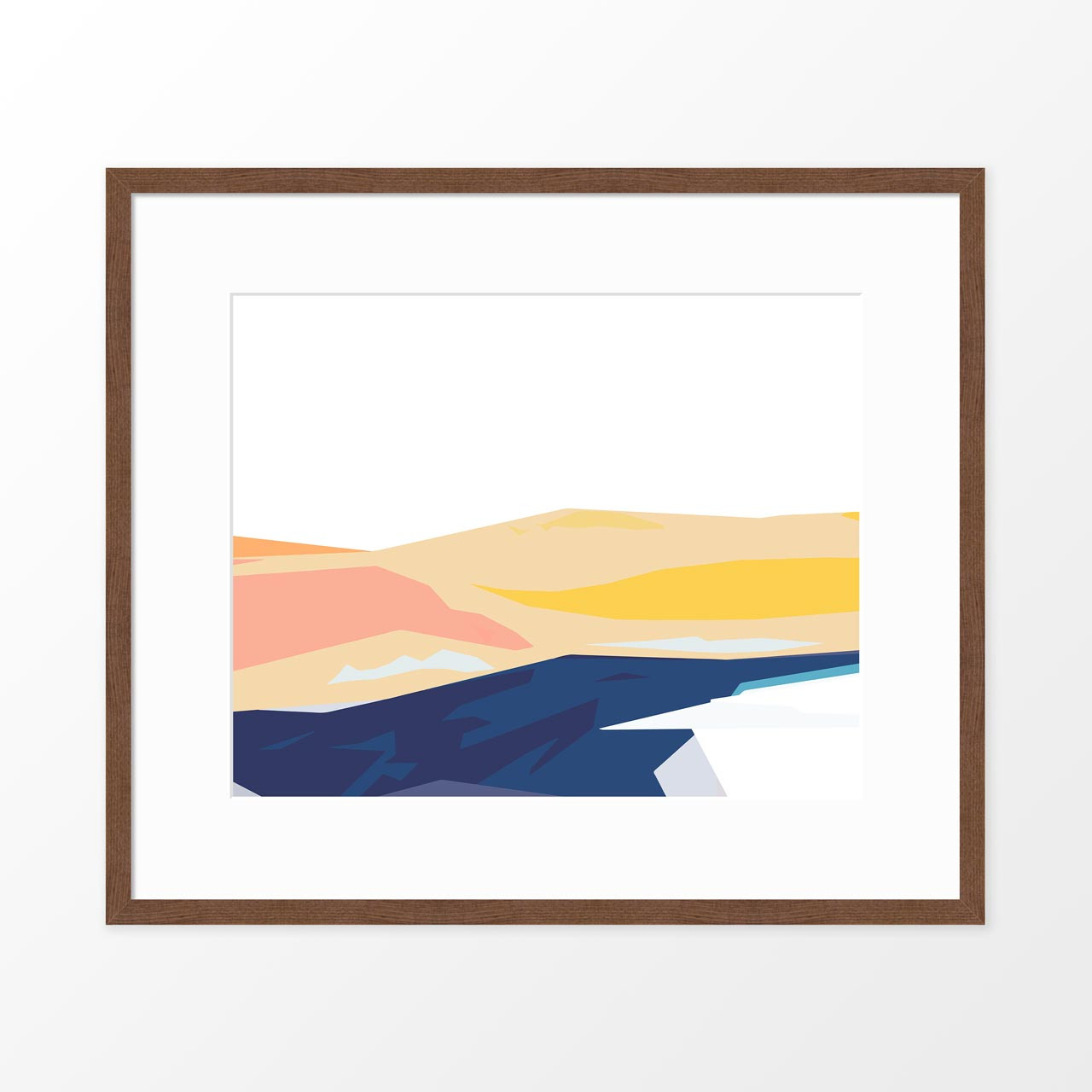 'Coastline II' Abstract Art Print from The Printed Home