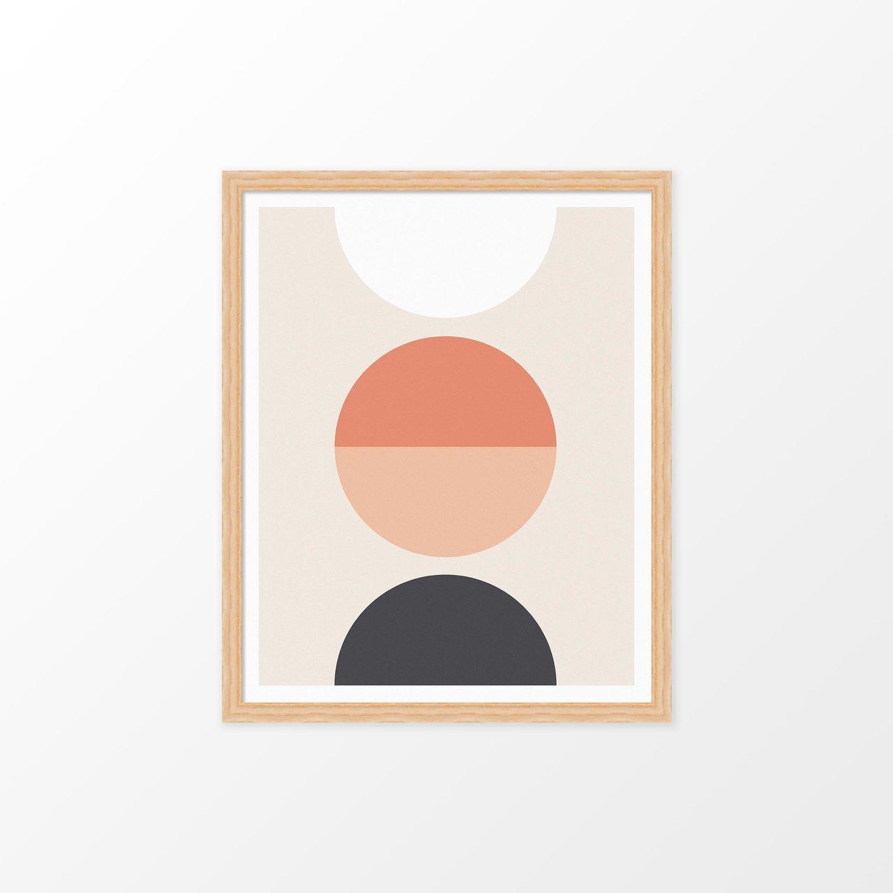 'Luna' Geometric Digital Art Print from The Printed Home