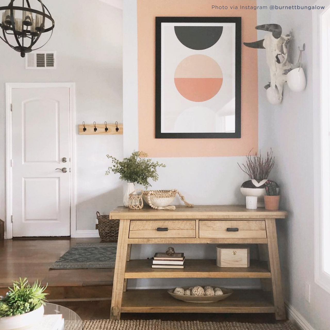'Luna' Geometric Digital Art Print from The Printed Home, styled by Janelle @burnettebungalow