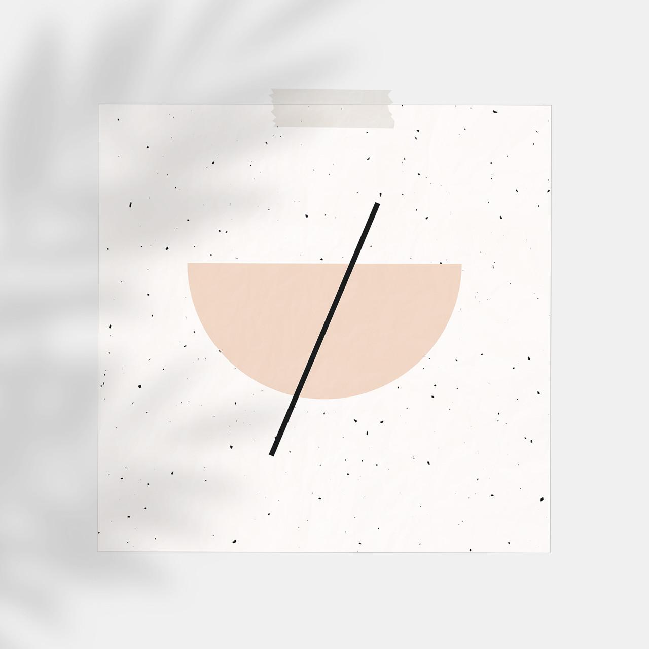 'Half Circle' Minimalist Geometric Art Print from The Printed Home