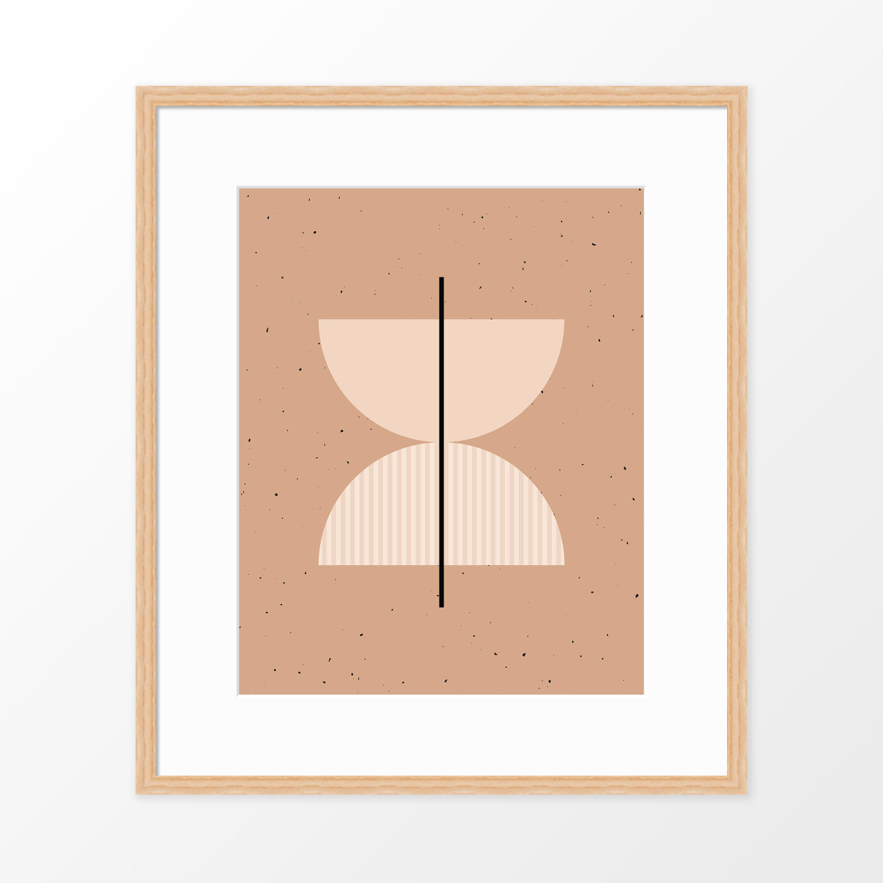 'Half Circles II' Minimalist Geometric Art Print from The Printed Home