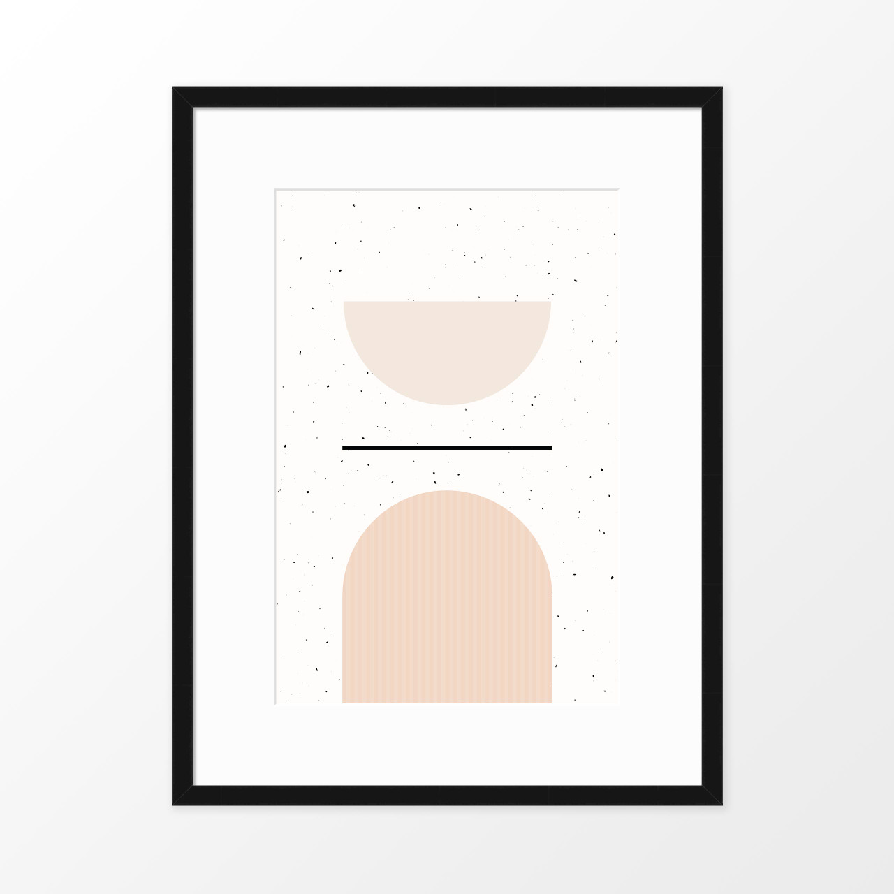 'Speckled I' Minimalist Geometric Art Print from The Printed Home