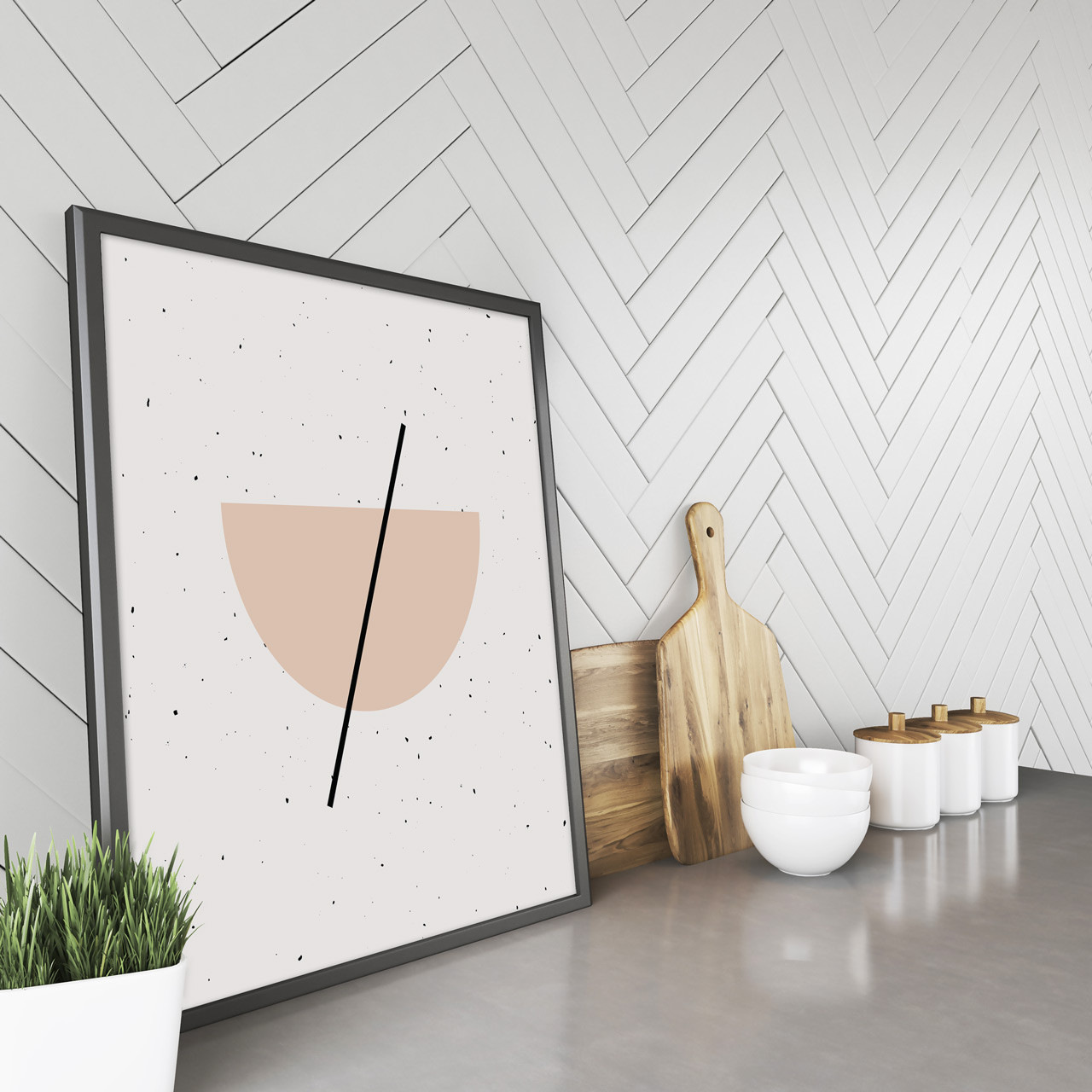 'Half Circle' Minimalist Geometric Art Print from The Printed Home (Printable)