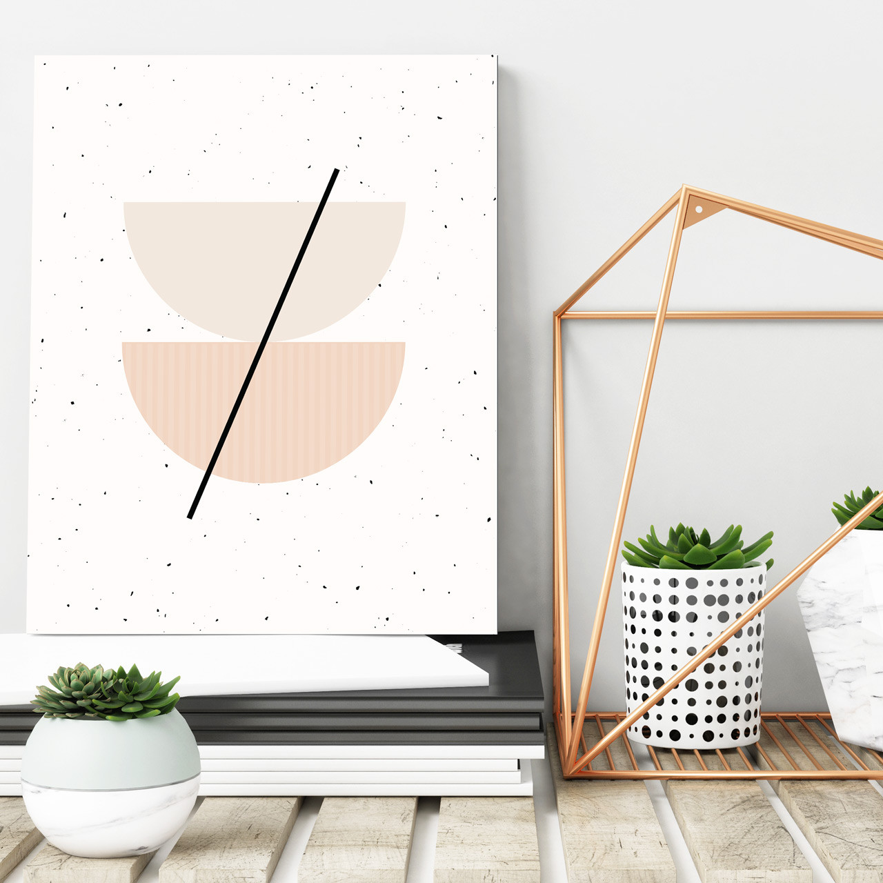 'Half Circles I' Minimalist Geometric Art Print from The Printed Home (Printable)