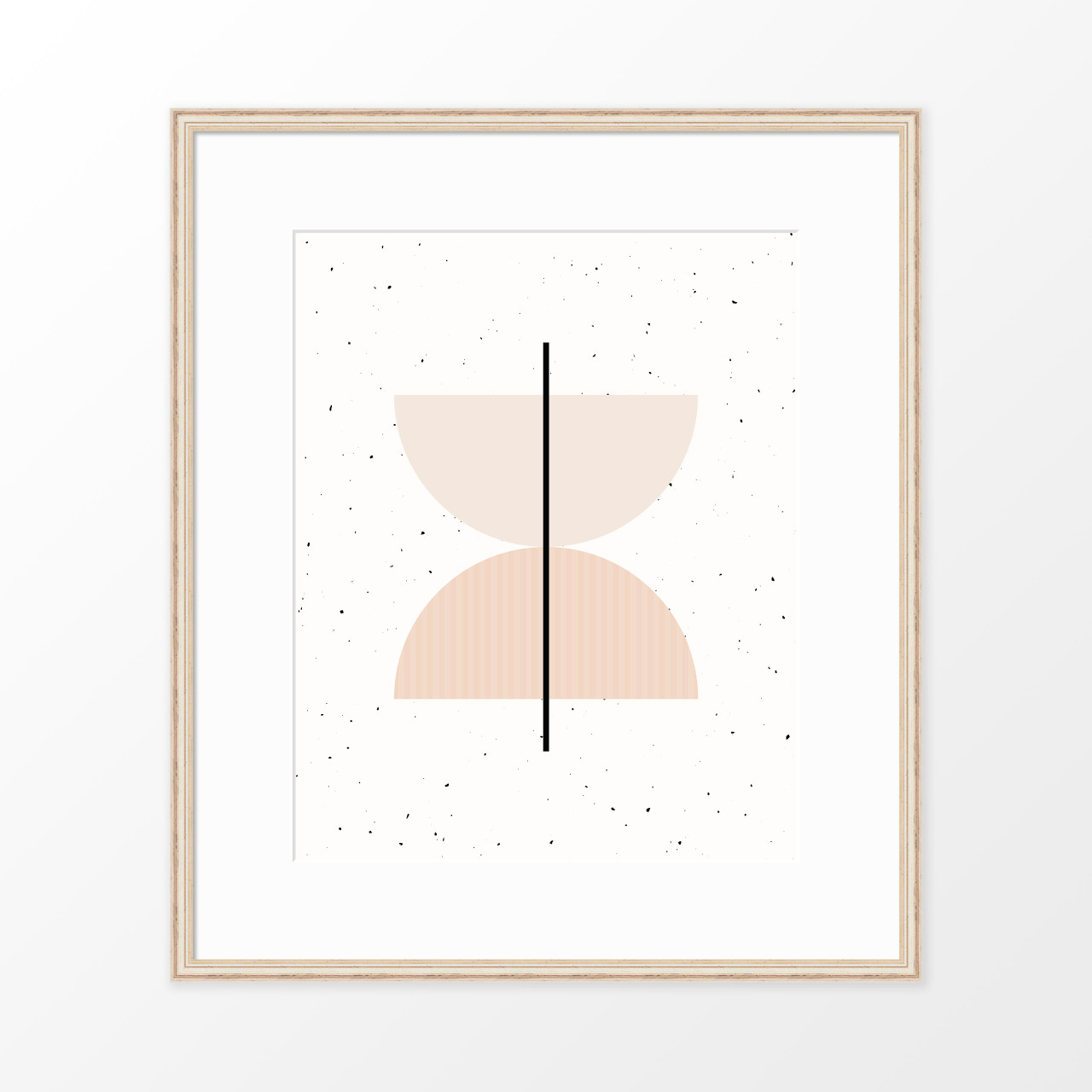 'Half Circles II' Minimalist Geometric Art Print from The Printed Home (Printable)