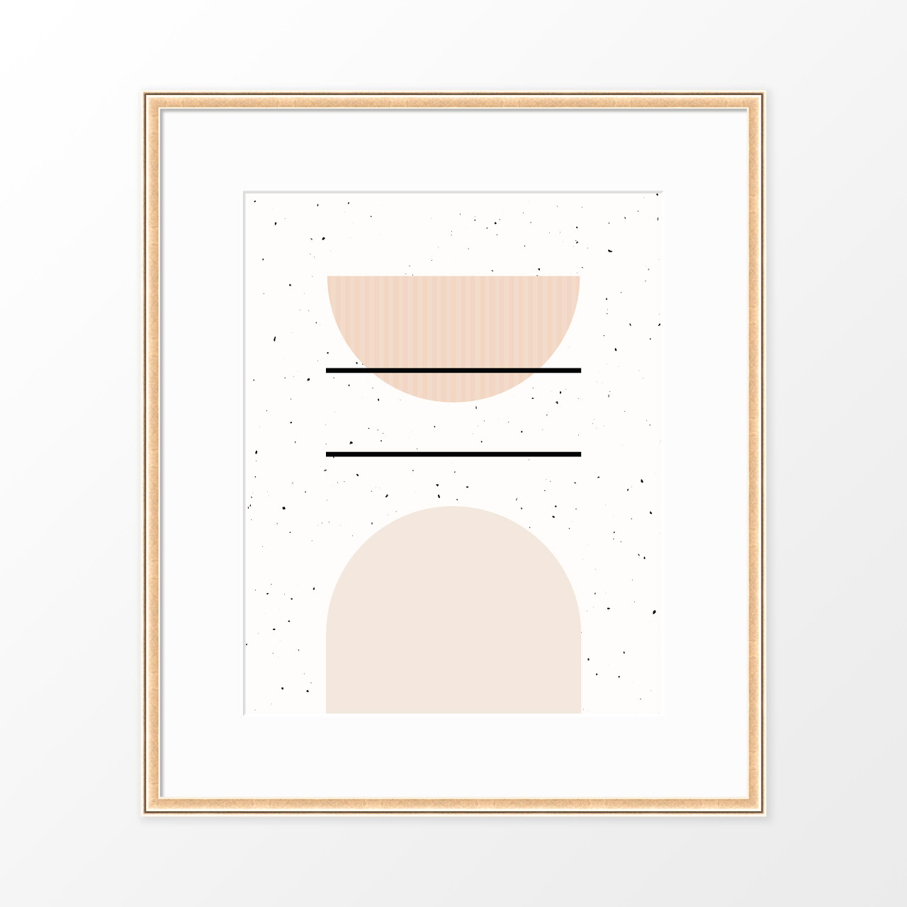 'Speckled II' Minimalist Geometric Art Print from The Printed Home (Printable)