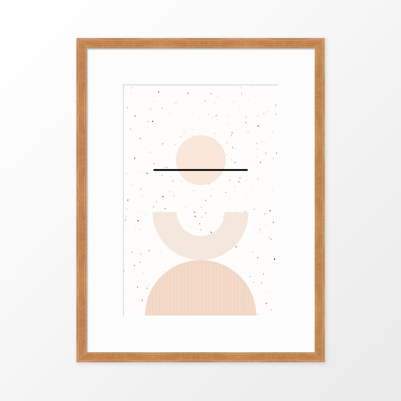 'Shapes + Flecks I' Minimalist Geometric Art Print from The Printed Home (Printable)