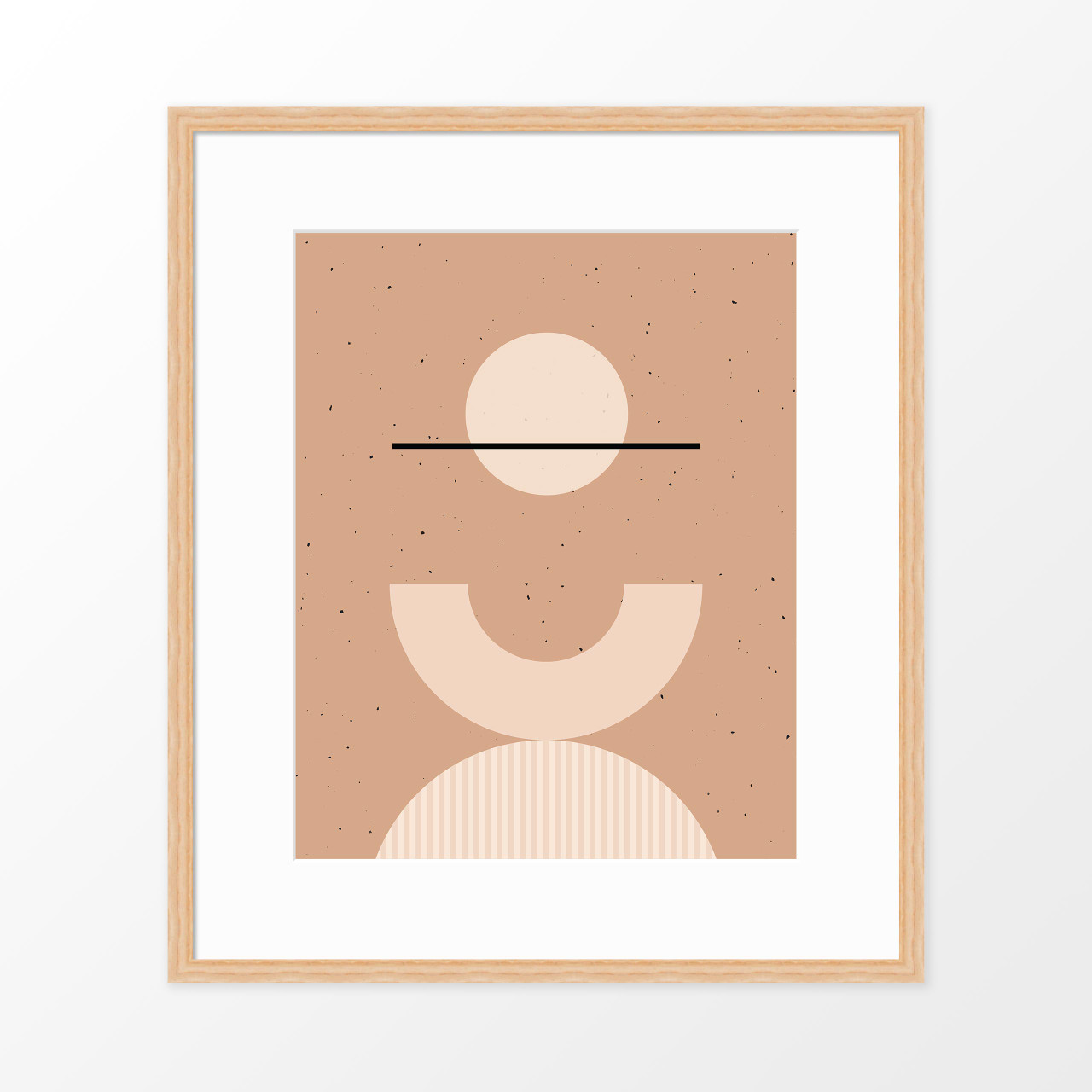 'Shapes + Flecks I' Minimalist Geometric Art Print from The Printed Home (Printable)