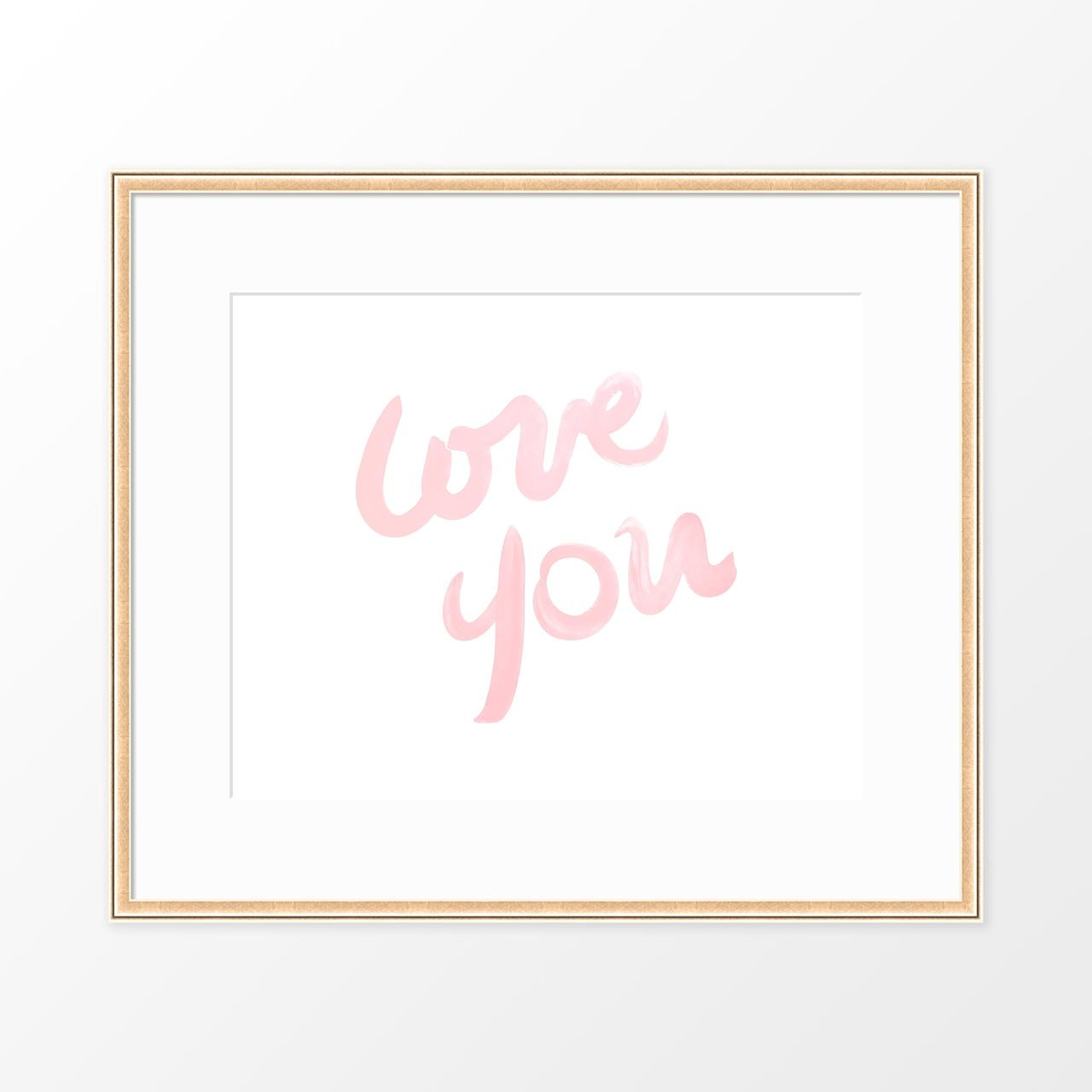 'Love You' Typography Poster from The Printed Home