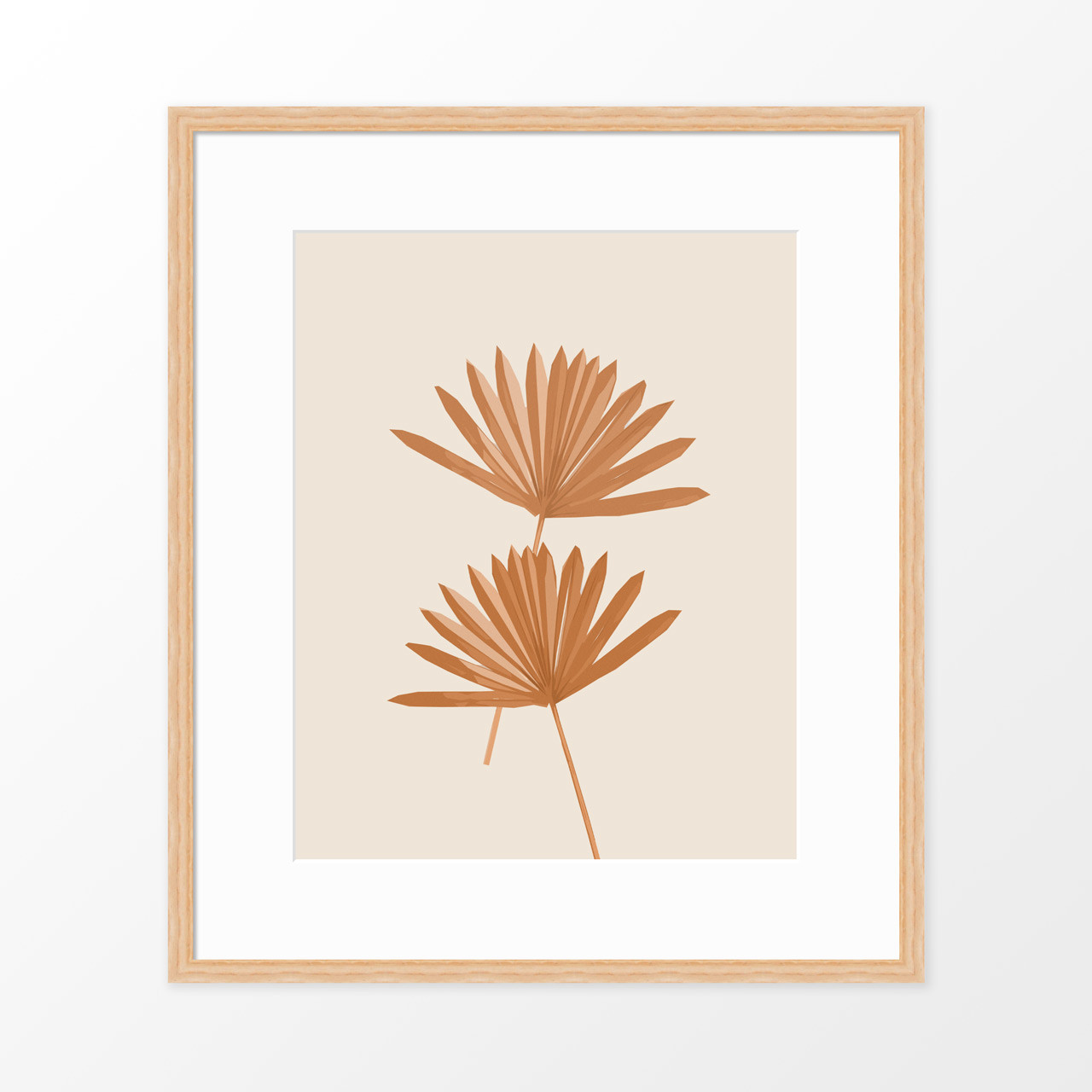 'Sun Palm III' in Sienna Abstract Leaf Art Print from The Printed Home