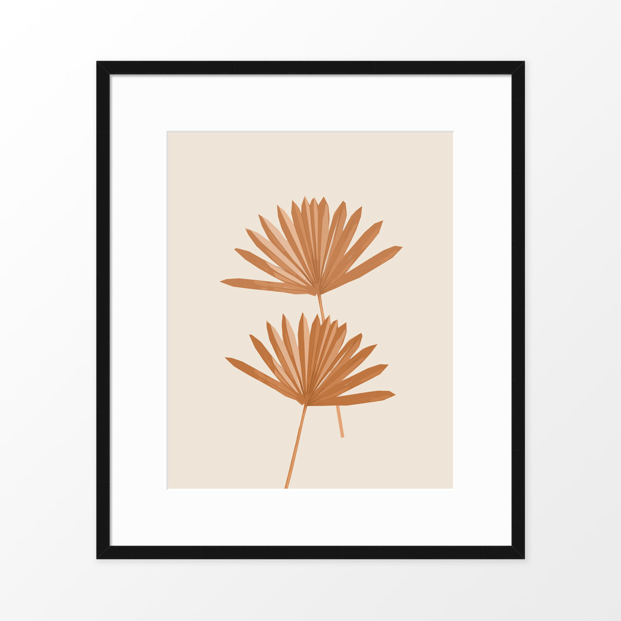 'Sun Palm II' in Sienna Abstract Leaf Art Print from The Printed Home