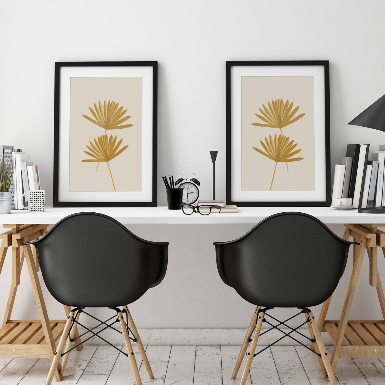 'Sun Palm II and III' Abstract Leaf Art Prints from The Printed Home (Printable)