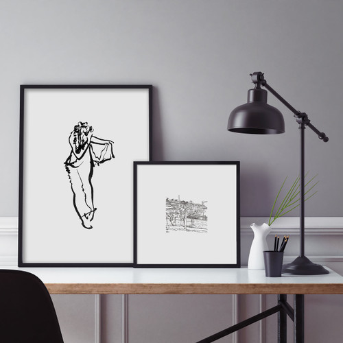'Trousers' and 'Vineyard' Art Prints (ink drawings by David Cobley) from The Printed Home