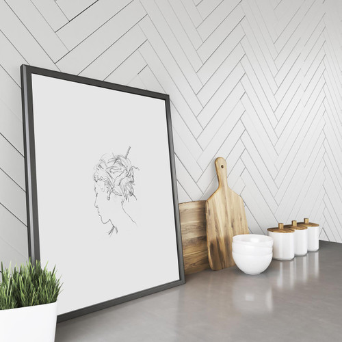 'Dreadlocks' Art Print (ink drawing by David Cobley) from The Printed Home
