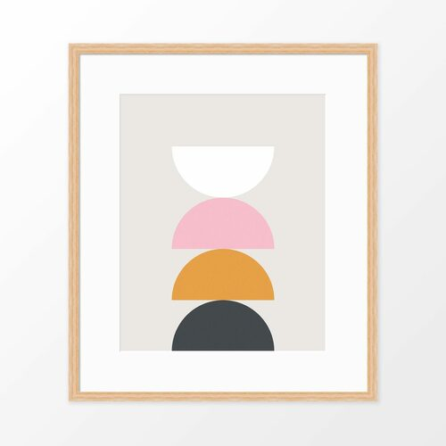 'Balance' Geometric Art Poster from The Printed Home