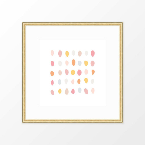 'Pebbles' Abstract Art Print from The Printed Home