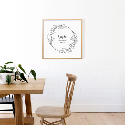 'Love Grows Here' Art Print from The Printed Home