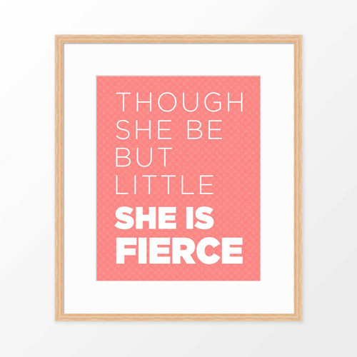 'She is Fierce' Kids' Art Poster from The Printed Home