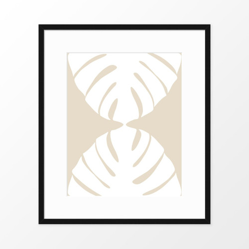 'White Monstera I' Botanical Art Poster from The Printed Home