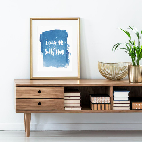 'Ocean Air & Salty Hair' Art Print from The Printed Home