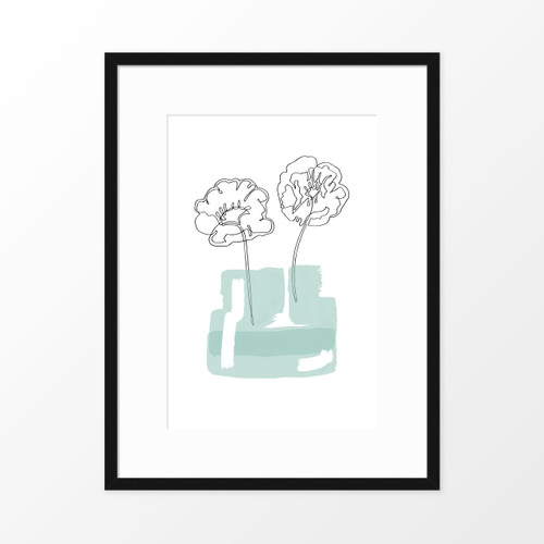 'Poppy Jar' Original Art Print from The Printed Home