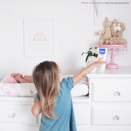 'Rainbow' Art Print / Kids' poster from The Printed Home (Photo Credit: @pineandpoppyshop via Instagram)